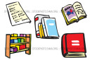 Research Style Guides Tests Thesauri Wholesale Vector Illustration