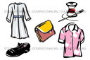 Purses Robes Sewing Shirts Shoes Clothes Vector ClipArt