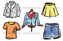 Shorts Skirts Suits Tailors T-shirts Clothes Vector Pack
