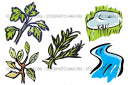 Parsley Plants Ponds Rivers Rosemary Ecology Mini Vector Pack