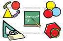 Colors Designs Relationships Shapes Teach Education Vector Graphics