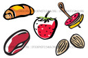 Almonds Appetizers Baking Beans Berries Food Mini Vector Pack