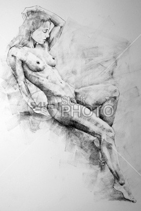 Drawing of a girl in classical pose women Standing sketch girl figure Pose pencil girl full body drawing drawings drawing woman figure drawing draw pencil sketch classical art classical bodies art drawing 54ka StockPhoto