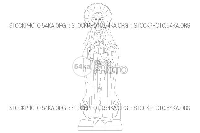 Saint Stephen Vector Christian Icon Vector Art Vector symbol Stephen St. Stephen saint religion Line Art line icon holy figure faith face decorations church christian Art 54ka StockPhoto