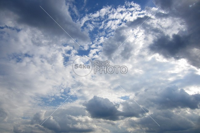 Sky and Clouds 0009 sunset sky nature field cloudy clouds bright blue background 54ka StockPhoto