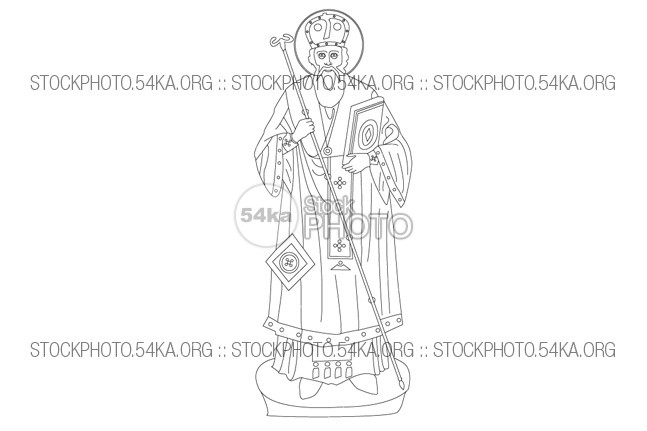 St. Modestus, Patriarch of Jerusalem Vector Art Vector Art symbol St. Modestus saint religious religion Patriarch outline orthodox Jerusalem icon holy figure faith face decorations church Christian icon christian christ catholic bible Art 54ka StockPhoto