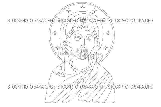 Saint Anne Mother of The Virgin Mary Vector Art Vector Art Vector torce Saint Anne saint religious religion outline orthodox mother line icon holy Hannah figure faith face drawing decorations church Christian icon christian christ catholic bible Art Anna Ann 54ka StockPhoto