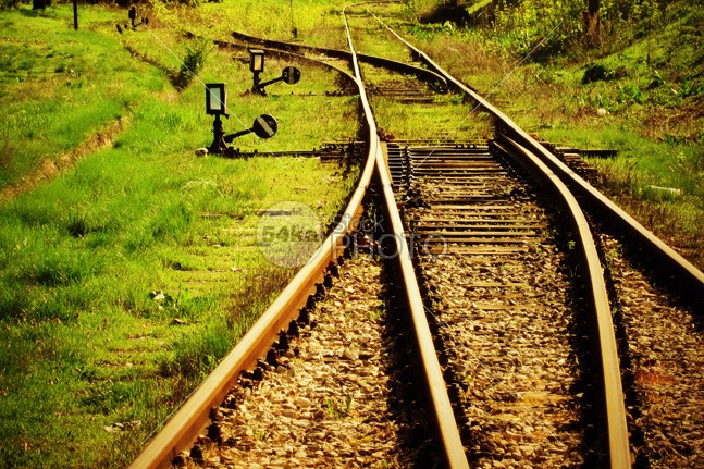 Old railroad at sunset white way voyage vintage tree travel transportation transport transit train track thailand sunset sun steel sky road railway railroad rail perspective path outdoor old nature line light landscape journey iron industry green grass forest direction day Concept background 54ka StockPhoto