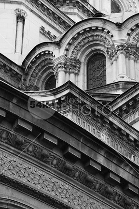 Alexander Nevsky Cathedral worship white symbol st sofia saint religion orthodox old nevsky nevski landmark history historical god front faith europe dome cult cross church christian cathedral bulgaria building black and white black architecture alexandre alexander 54ka StockPhoto