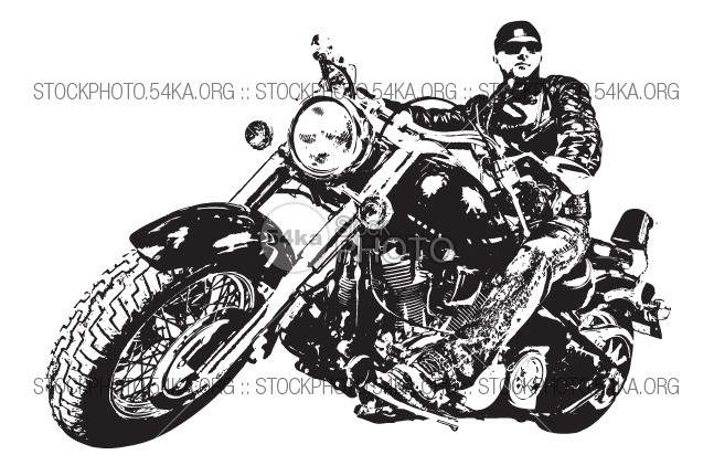 Bikerman – Man on a motorcycle Vector Graphics wild white vehicle transportation transport Traffic track Style sports speed skull sketch road Riding rider rebellion race pencil pen motorcyclist motorcycle motorbike motor motocross Men Lifestyle Leather isolated illustration hand Graphic free flame Fire EPS engine drive drawn drawing download vector doodle dark cycle chrom chopper biker bike bicycle Art Adventure 54ka StockPhoto