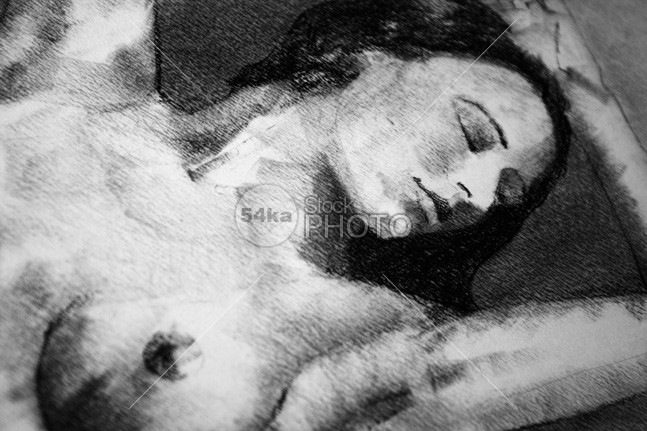 Portrait of a beautiful woman charcoal drawing young women vibrant texture sketching sketch sensuality product pretty paper painted outline one model line lady image illustration human hand girl fine figure femininity female fantasy expression elegance educational education drawing draw design creative contour coal charcoal body beauty beautiful artwork Art Anatomy 54ka StockPhoto