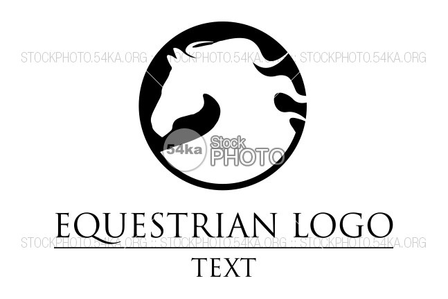 Horse Head Vector Logo Equestrian Silhouette Of The