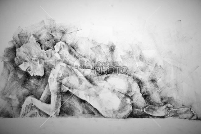 Charcoal Drawing of Woman Lying Pose young woman white tender sexy sensual sensitive pretty Pose pleasure Perfection perfect lying horizontal girl full female Enjoyment cute Caucasian body beauty beautiful background attractive adult 54ka StockPhoto