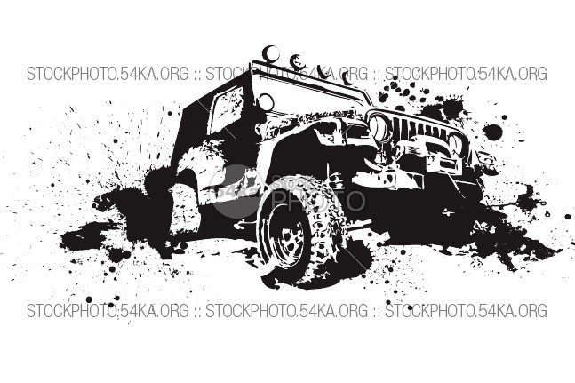 Vector Graphics Off-Road 4×4 white wheel vehicle Vector utility truck travel transportation transport tire terrain symbol sport speed Silhouette sign safari road rally race power outline offroad off-road motorized motor land jump jeep isolated image illustration icon hummer front Extreme drive dirty design clipart cartoon car black autosport automotive auto Art Adventure 4x4 54ka StockPhoto