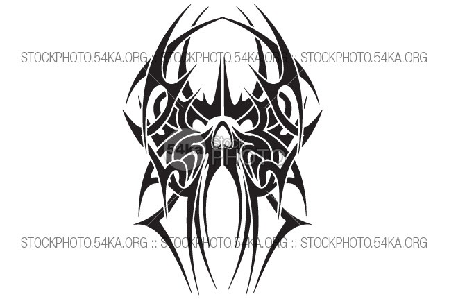Tattoo Skull Tribal Vector Design vintage Vector tribal tattoo symmetry symbols symbol Style skull sign ornate modern line ink image illustration Graphic gothic elegant elegance drawing design Decoration dark curves contour clip art classic celtic bstract black beautiful artistic Art 54ka StockPhoto
