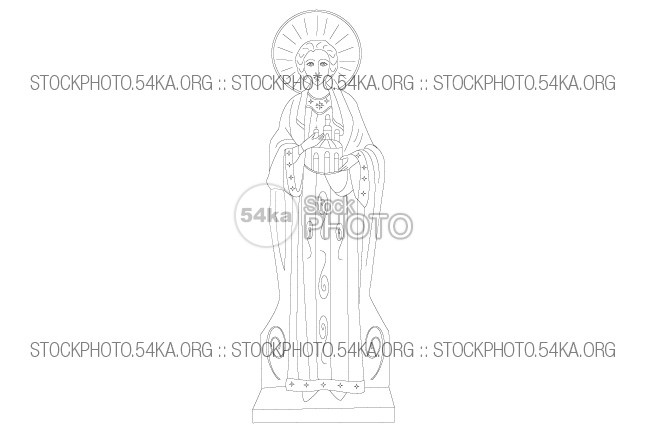 Saint Stephen Vector Christian Icon Vector Art Vector symbol Stephen St. Stephen saint religion Line Art line icon holy figure faith face decorations church christian Art 54ka StockPhoto