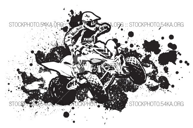 Vector Graphics ATV 4×4 white wheel vehicle Vector transport sport speed sky Silhouette risk ride racing race quad Powerful power outdoor off-road off motorcyclist motorcycle motorbike motor motocross machine isolated image illustration fun Extreme drive drawing design dangerous clip art black bike background atv artwork artistic 54ka StockPhoto