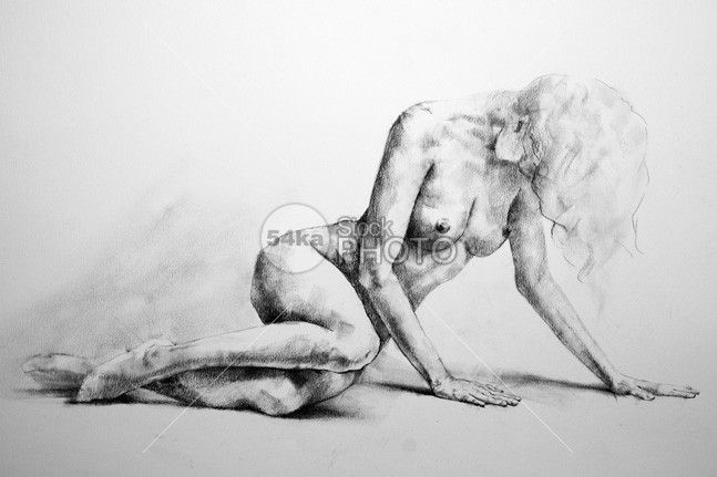 Lateral Pose Sketch Drawing young women woman white Style skill side sensuality position Posing Pose person People model lying long-legs legs isolated human grace Glamour girl Fine Art fine figure female elegant elegance body black beauty beautiful background Art adult 54ka StockPhoto