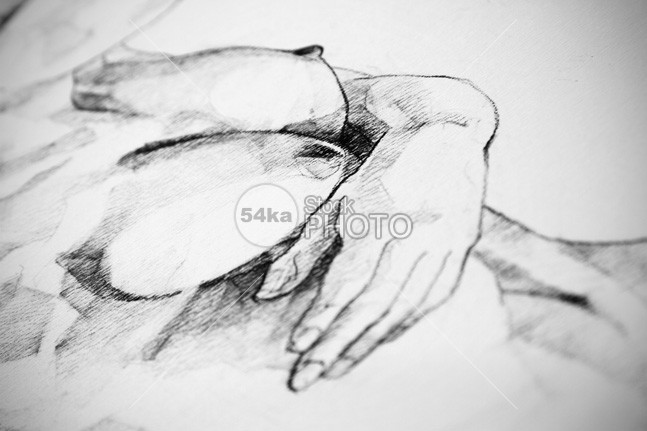 Breast and Hands Art Drawing woman lying woman sensuality pose drawing pencil original drawing Original model pose limited edition life drawing hands graphite girl Fine Art figure drawing figurative art female expressives erotic art erotic drawing download classical drawing charcoal art Breast Art 54ka StockPhoto