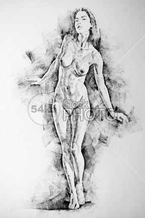 Live Figure Drawing Model Standing Pose young woman white studying standing woman standing pose Standing sketch Pose Picture person People pencil pastel paper outline one muscles model live line life Leg image illustration human girl figure drawing design classical drawing classic pose charkoal charcoal body artwork Art anatomy for artist Anatomy academical 54ka StockPhoto