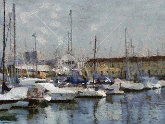 Boats in marina spain seascape sea portugal painting Original oil on canvas lovely Fishing european europe downtown docks colourful colour Colors colorful color coast close cityscape city calm bustling built building brilliant bright bounded boats boating boat blue beautiful bay artwork artistic Art 54ka StockPhoto