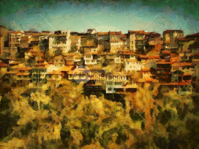 Veliko Tarnovo cityscape painting view veliko trees town tarnovo sunny sun summer Style spring space ruins roof river quarter place painting outdoor old light landscape istoric houses house hillside hill green european europe environment district destinations day Culture congestion congested Colors color cliff cityscape city bulgarian bulgaria buldings built Buildings blue balkans Art area architecture ancient 54ka StockPhoto