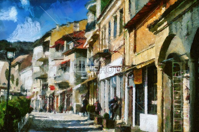 Street in Veliko Tarnovo veliko town tarnovo street residential painting old nobody neighborhood narrow medieval houses historic flowers european europe empty eastern east drawing destination Culture cultural construction Colors colorful clouds cityscape city central capital bulgaria Buildings building blue balkan attraction Art architecture ancient alley 54ka StockPhoto