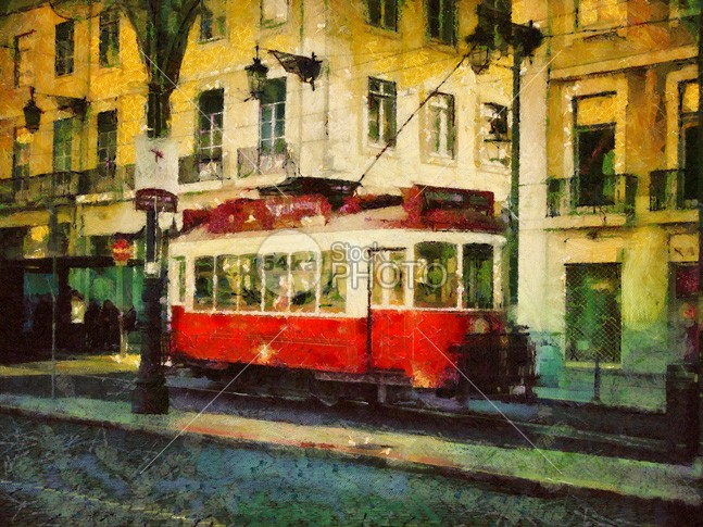 Tram in Lisbon Painting sunny summer streets streetcar street Square sky rossio road retro red railway railroad railing rail public praca portuguese portugal pavage painting old lisbon lisboa journey history historical historic european europe Electric editorial drawing downtown district destination commerce comercio classic cityscape city center carris car capital cable bus baixa attraction Art architecture antique alfama 54ka StockPhoto