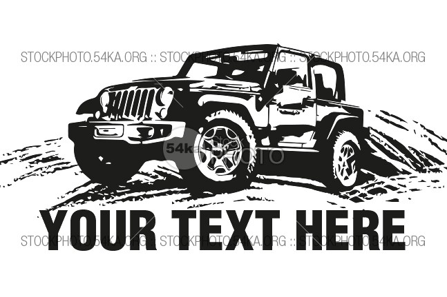 Jeep 4 215 4 Vector Logo Illustration Vector Art Graphics