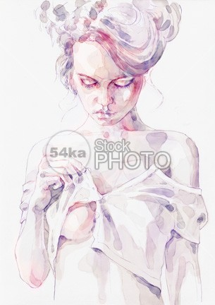 Aquarelle sensual portrait of a girl young women woman white Watercolour Fashion watercolour watercolor wall art Style splashing sensual portrait paper painting paint makeup look Lips lady image illustration head hand Hairstyle hair Graphic Glamour girl freehand female Fashion Illustration Fashion Art Fashion face eyes eye drawing design color close blue black beauty drawing beauty beautiful background Art aquarelle 54ka StockPhoto