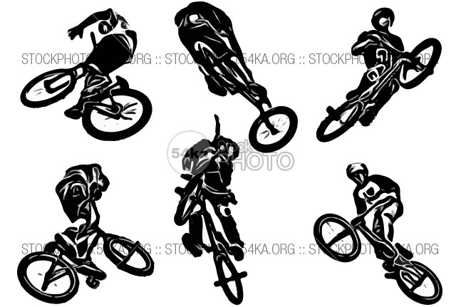 Silhouettes of BMX jumps – Collection of 6 vector graphics Youth wheel vehicle Vector urban trick text teen stunt street sport speed Silhouette risk Riding quality person People pdf outdoors Lifestyle leisure jump joy isolated illustration high helmet halftone fun freestyle free Extreme Excitement EPS download dirt bike dirt danger cyclist cycling cool bmx black biker bike bicyclist bicycle silhouette bicycle Activity acrobatic 54ka StockPhoto